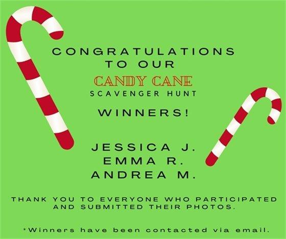 Candy Cane Scavenger Hunt - Winners