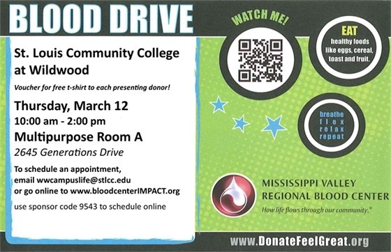 St. Louis Community College - Wildwood - Blood Drive, March 12, 2020