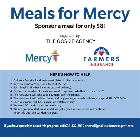 Meals for Mercy - Helping our Health Care Heroes