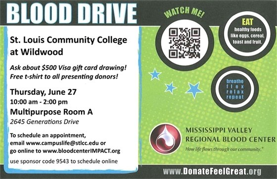 Give Life! St. Louis Community College Blood Drive - June 27, 2019