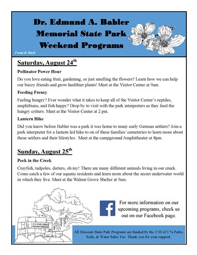 List of Programs @ Babler State Park