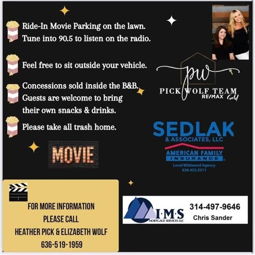 Ride-In Movie - This Saturday, June 15th - Next to the B&B Theatre
