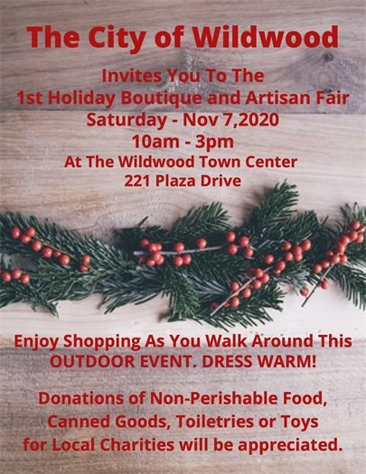 1st Holiday Boutique and Artisan Market - November 7, 2020