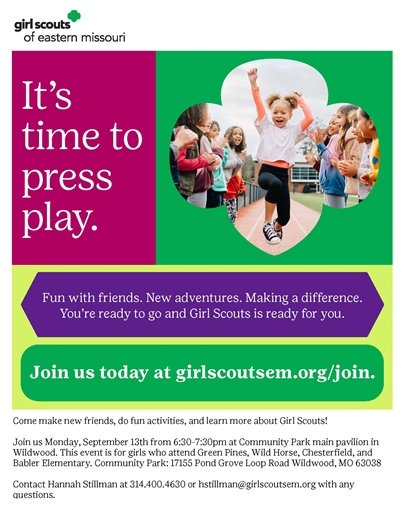 Girl Scouts - Join Now!
