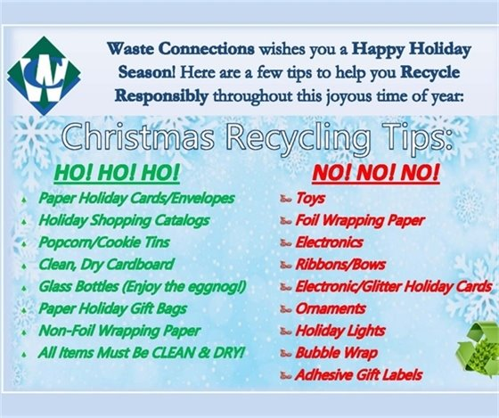 Christmas Recyling Tips - Waste Connections
