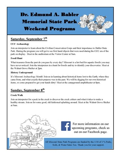 Babler State Park - This Weekend's Event