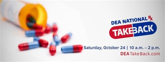 DEA National Rx Takeback - This Saturday - October 24, 2020