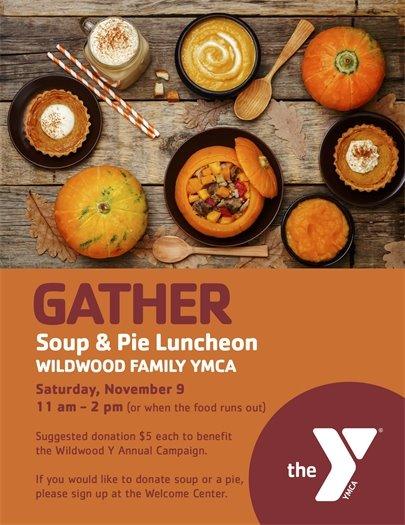 Wildwood Family YMCA - Soup & Pie Luncheon - November 9, 2019