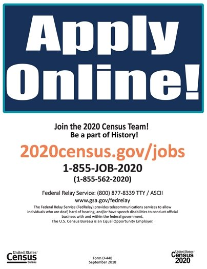 Help Keep America Strong - Work for the Census