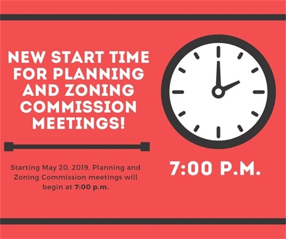 City of Wildwood Planning and Zoning Commission - New Start Time - 7:00 p.m.