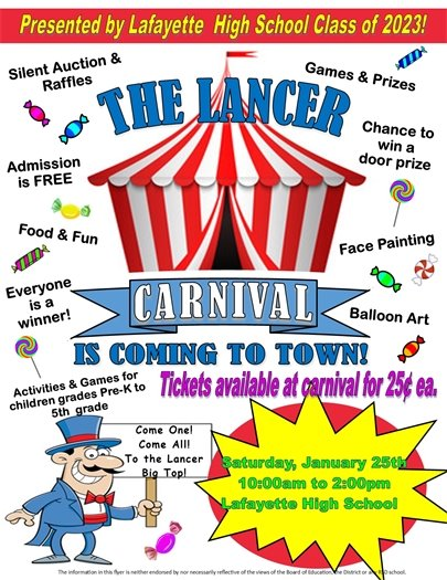 LHS - The Lancer Carnival - January 25, 2020 - 10:00 a.m. to 2:00 p.m.