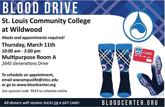 Blood Drive - St. Louis Comm. College - March 11, 2021