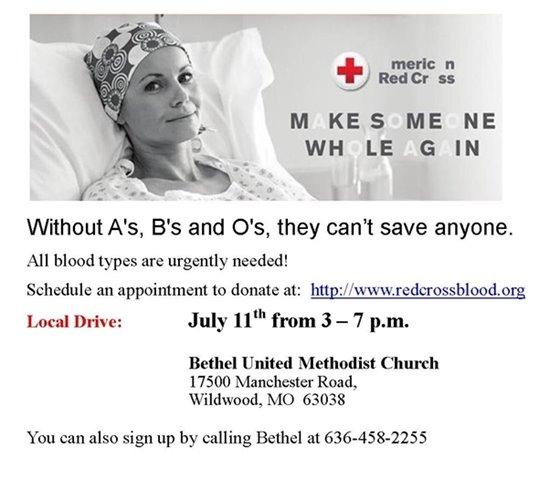 Bethel United Methodist Church - July 11, 2018, 3:00 p.m. to 7:00 p.m.
