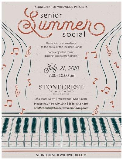 Senior Summer Social @ Stonecrest of Wildwood - July 21, 2018