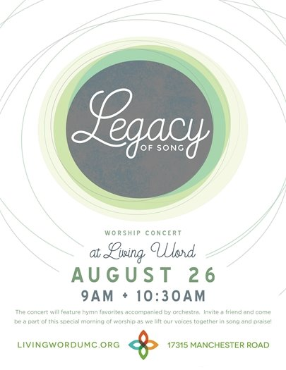 Living Word Church - Legacy of Song - August 26, 2018 - Begins @ 9:00 a.m.