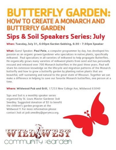 Wild West Community Garden - Sips and Soils Speakers Series, July 31, 2018 (6:00 p.m. start)