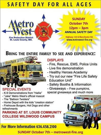Metro West Fire Protection District's Safety Day - October 7, 2018