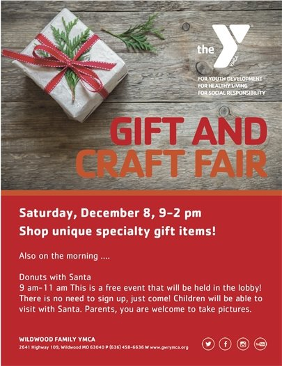 Gift and Craft Fair 0 Wildwood Family YMCA - December 8, 2018