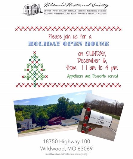 Wildwood Historical Society - Holiday Open House -December 16, 2018 - 11am to 4:00pm