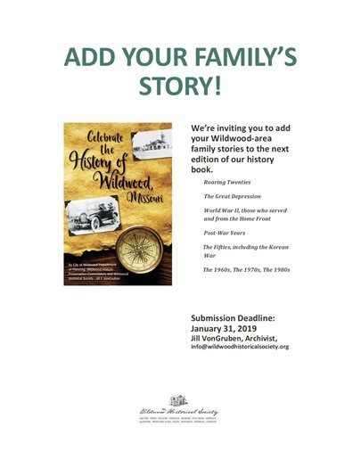 Wildwood History Book - Please Provide Your Family Information