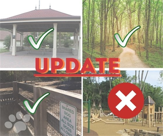 Openings and Remaining Closures - Wildwood Park and Trail Facilities