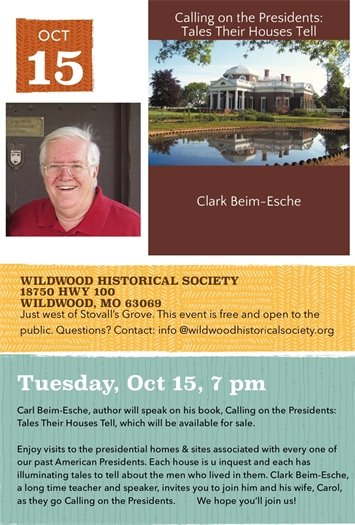 Wildwood Historical Society's Speaker's Series - Calling on the Presidents: Tales Their Houses Tell