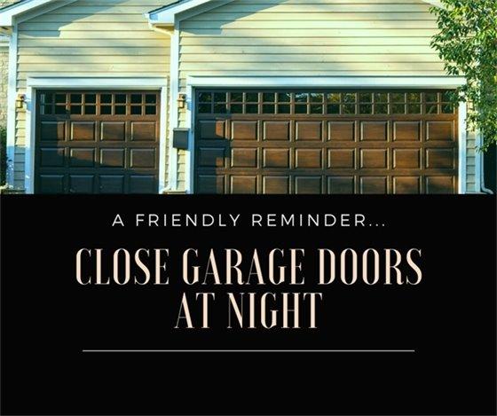 Close Garage Doors @ Night