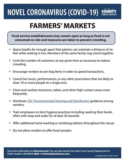 Department of Public Health - Farmers' Markets