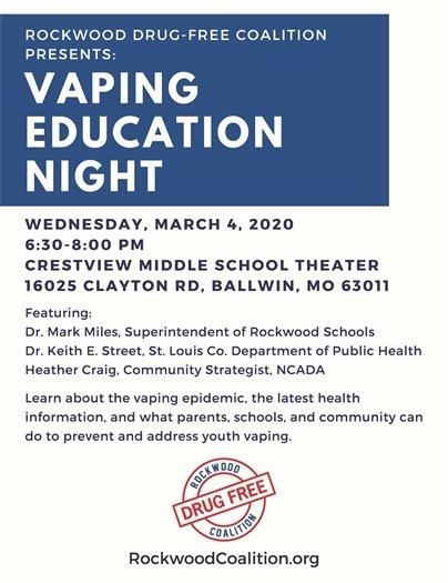 Vaping Education Night - Wednesday, March 4, 2020