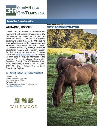 Wildwood Seeks City Administrator Candidates