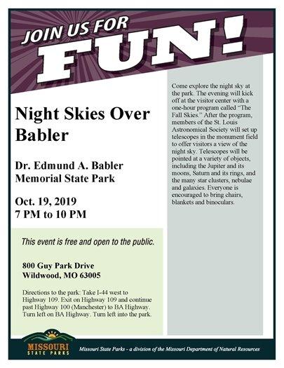 Babler State Park - Night Skies Over Babler - October 19, 2019