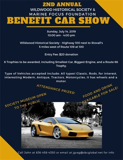 WHS Benefit Car Show - Sunday, July 14, 2019