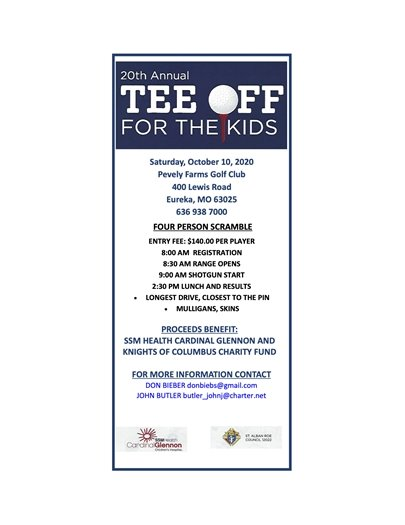 20th Annual Tee Off for Kids - October 20, 2020
