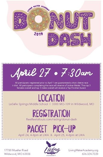 Living Word Church's Donut Dash - April 27, 2019