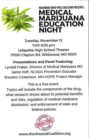 Rockwood Coalition - Medical Marijuana Education Night