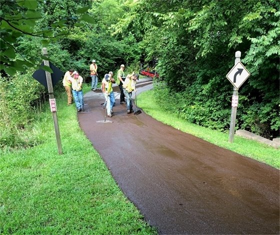 Resurfacing Underway of City's Trails - Please Use Caution