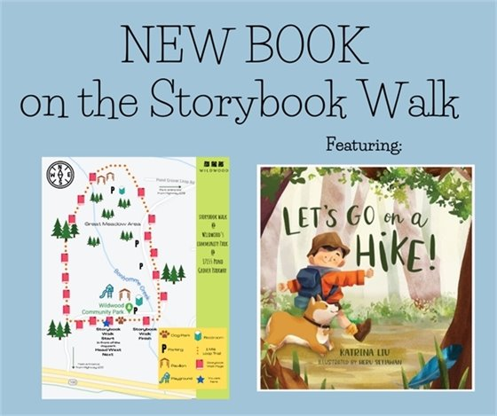 New Book on the Storybook Walk in Community Room