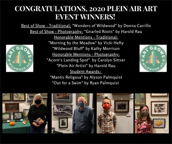Our Winners! The Plein Air Event - Art Grows @ Wildwood, Mo.