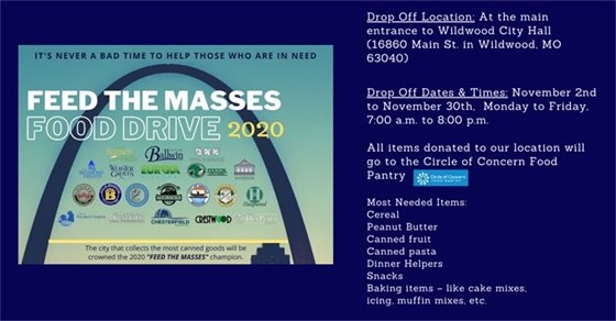 Feed the Masses Food Drive - Extend a Hand to Those in Need