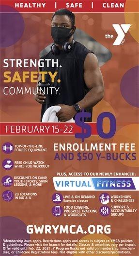 Enroll at the Y - February 15 through 22, 2021