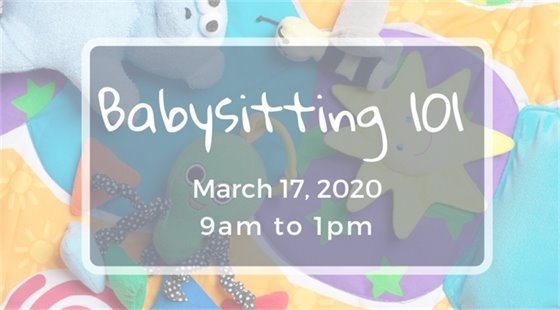 Wildwood's Babysitting 101 Class on March 17, 2020