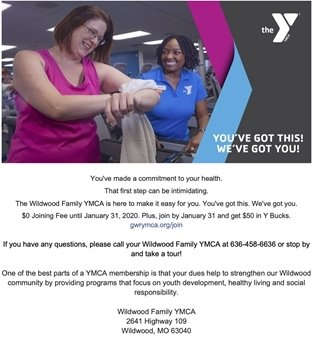 Wildwood Family YMCA - Join for Your Health, Enjoy the Company!