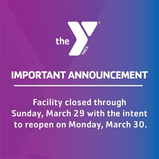 YMCA Closure Announcement