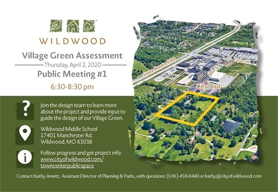 Public Input Session on Wildwood Future Village Green - April 2, 2020