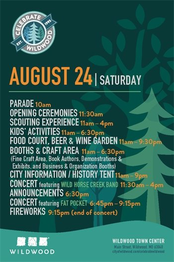 Celebrate Wildwood Schedule of Events