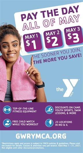 Pay the Day - All of May - Wildwood Family YMCA