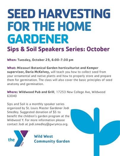 Sips and soils Speaker Series - October 29, 2019 - Wild West Community Garden