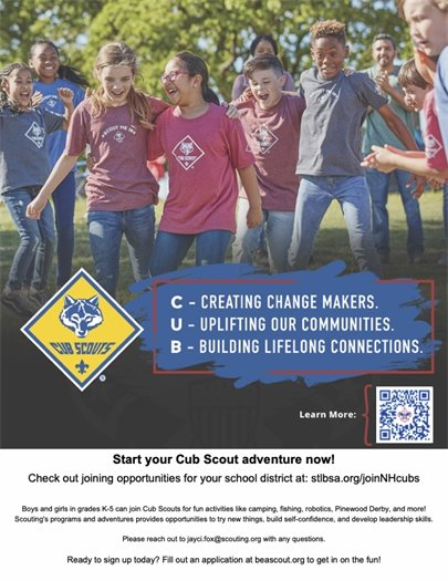 Cub Scout Flyer - Start Your Adventure Now!