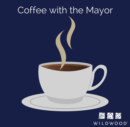 Coffee with the Mayor at City Hall at 7:30 a.m. on the first Thursday of each month
