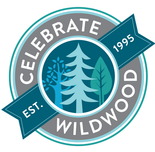 Celebrate Wildwood logo with trees